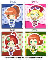 .:Madou Puyo Puyo Girls - DDLC Sticker Style:. by CaitlinTheStarGirl