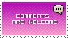 Comments Welcome Pink by Harrier2569