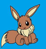 Pokemon - Eevee by redeyeswolfman