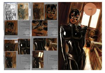 Catwoman - progress steps by eschaal