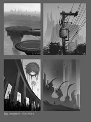 environment sketches by eschaal