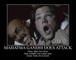 Gandhi Does Attack Sam by onepbigfans
