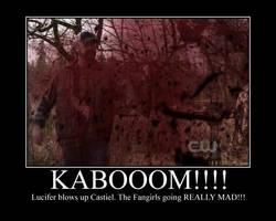 Blown up Castiel by onepbigfans