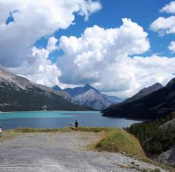 Mountains and lake by DARKRAG0N