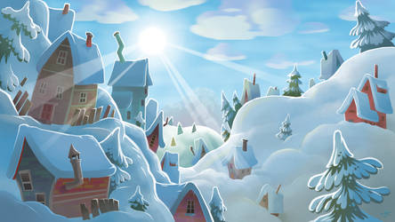 snow town by Pseudogiant