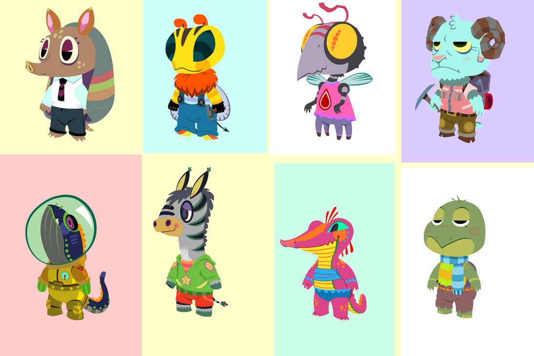 animal crossing characters by Pseudogiant