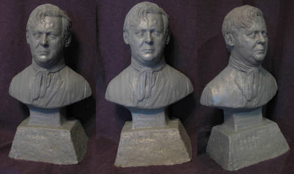 Michael Ripper portrait sculpture by Kelgod