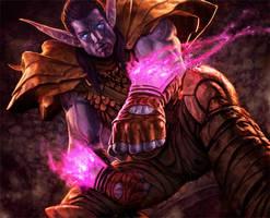 World of Warcraft - Night Elf by reau