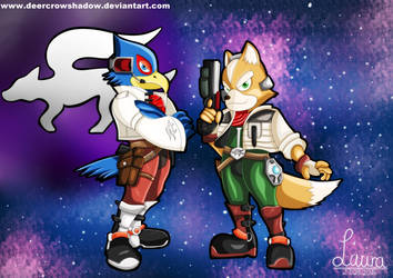 Starfox : Fox X Falco by DeerCrowShadow