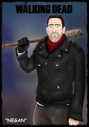 The Walking Dead : Negan (Jeffrey Dean Morgan) by DeerCrowShadow