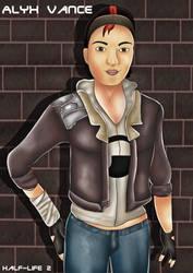 Half-Life 2 : Alyx Vance by DeerCrowShadow