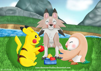 Pokemon Picknick by DeerCrowShadow