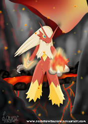 Blaziken by DeerCrowShadow