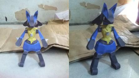 Lucario Papercraft by ShiroiKoumori