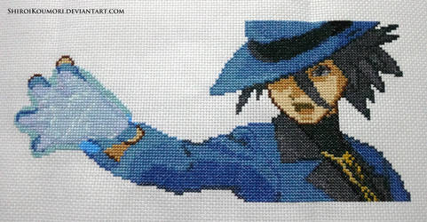 Riley (Pokemon DPPt) Cross Stitch by ShiroiKoumori
