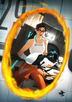 Portal 2: Chell by CoolSurface