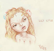 Lily Cole caricature by yirikus