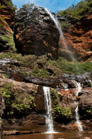 Wentworth Falls upper cascade by wildplaces