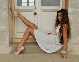 Jasmine - white dress smile 2 by wildplaces