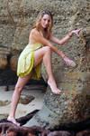 Zoe - lemon dress climb 1 by wildplaces