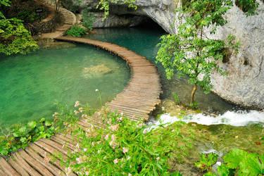 Plitvicka - converging pathways 1 by wildplaces