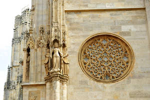 St Stephens Cathedral, Vienna - detail 2 by wildplaces