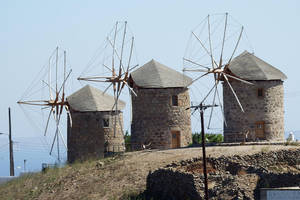 Windmills of Patmos 1 by wildplaces