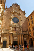 Montserrat Monastery courtyard 1 by wildplaces