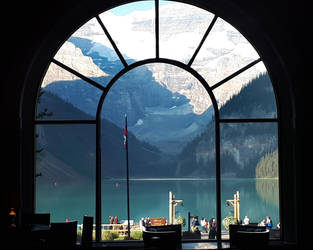 Lake Louise Lodge window 1 by wildplaces