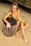 Zoe - beach log 1 by wildplaces