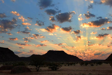 Sunrise in Damaraland 3 - Namibia by wildplaces