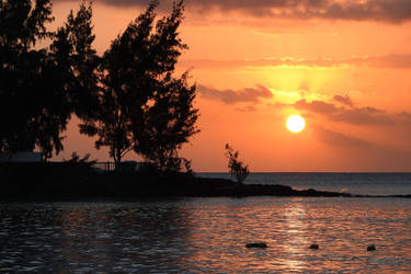Sunset 2 - Pereybere Beach, Mauritius by wildplaces