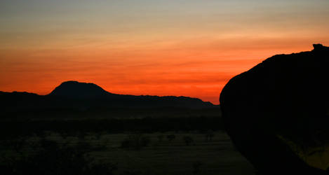 Sunset afterglow - Damaraland by wildplaces