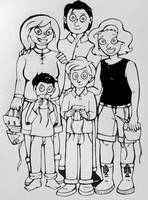 Inktober #21: Family #2 by pinearts