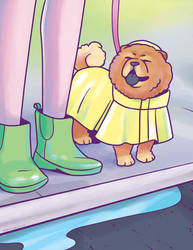 Raincoat Pup by pinearts