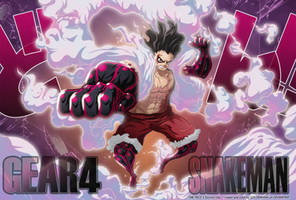 Luffy G4 - SNAKEMAN  // One Piece Ch895 by goldenhans