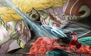 Zoro-juro: Nigiri Toro Samon // One Piece Ch913 by goldenhans