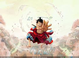 Luffy-taro: Gomu gomu no... // One Piece Ch916 by goldenhans