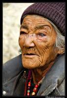 Old Ladakhi woman by Shahenshah