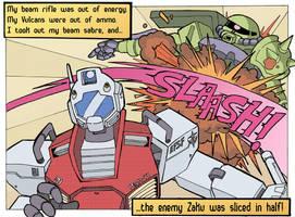 Mobile Suit Battle - Lichtenstein Tribute by Nico--Neko