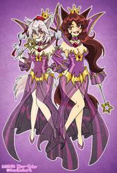Momiji and Kagerou - Shadow Queen by Nico--Neko
