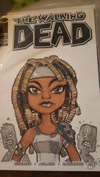 Walking Dead: Michonne cutie! by smifink