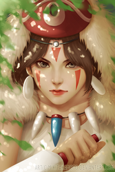 Princess Mononoke by MikiTakamoto