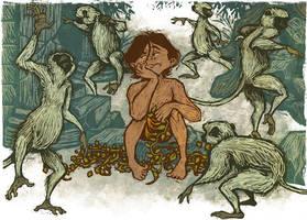 Mowgli and the Bandar Log by IngvardtheTerrible