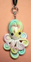 Watercolor Octopus Necklace by BlackMagdalena