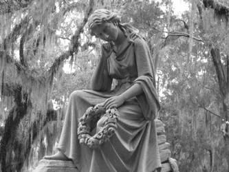 Headstone statue by DearSamKiddo