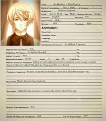Alois Trancy Asylum Form by Greeneyesmetblack