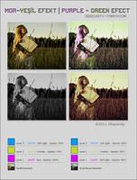 Purple Green Efect PS Tutorial by Qebsenuef