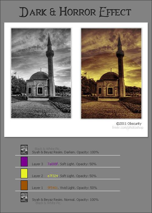 Dark Effect PS Tutorials by Qebsenuef