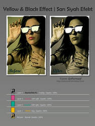 Black-Yellow Effect PS Tuts by Qebsenuef